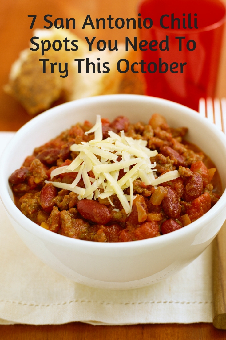 October is National Chili month, and San Antonio has some serious chili recipes each unique to the restaurant/bar that makes it. If you are grabbing a bowl of chili to warm you up as the weather starts to turn, or are just looking for some inspiration for your own recipe, check out our top 7 places to get San Antonio style chili this month.